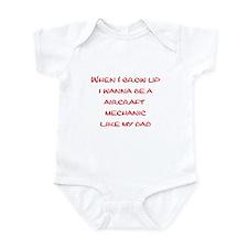 Aircraft Mechanic Infant Bodysuit