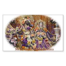 Radha Shyamasundara Rectangle Decal