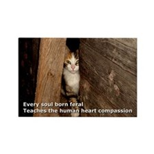 Every soul born feral Rectangle Magnet (10 pack)