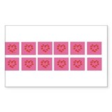 Spanish Rose Wreath on Pink Rectangle Decal
