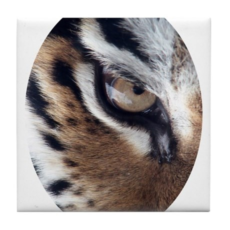 Tiger Eye Tile Coaster