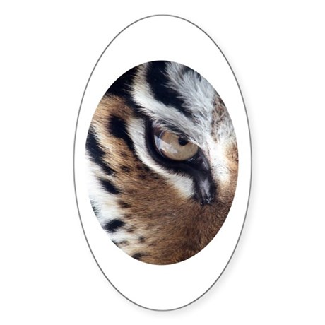 Tiger Eye Oval Sticker