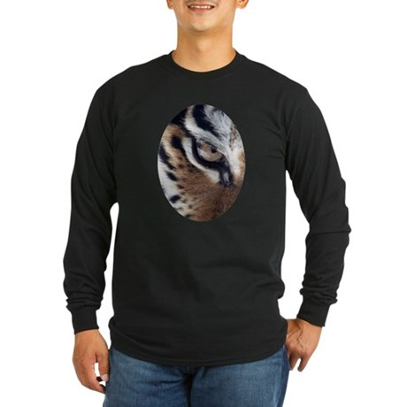 Tiger Eye Long Sleeve Dark T-Shirt