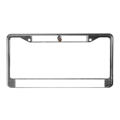 Tiger Eye License Plate Frame