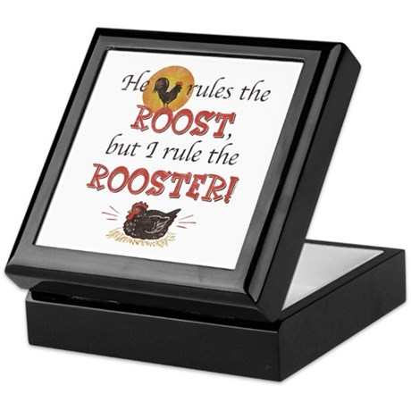 Rules The Rooster Keepsake Box