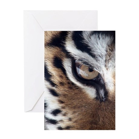 Tiger Eye Greeting Card