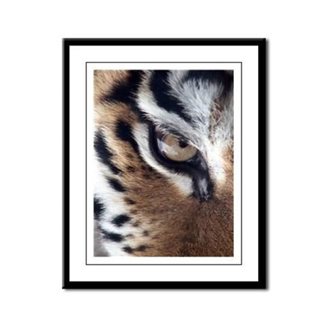 Tiger Eye Framed Panel Print