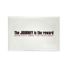 """""""Journey is the reward"""" Rectangle Magnet (100 pack"""
