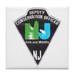 New Jersey Game Warden Tile Coaster