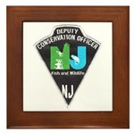 New Jersey Game Warden Framed Tile