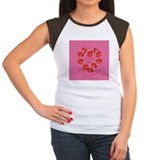 Spanish Rose Wreath on Pink Tee