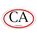 California Oval Decal