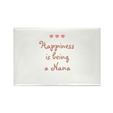Happiness is being a Nana Rectangle Magnet
