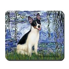Lilies / Rat Terrier Mousepad
