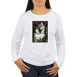 Ophelia / Pomeranian (p) Women's Long Sleeve T-Shi