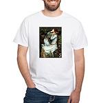 Ophelia / Pomeranian (p) White T-Shirt
