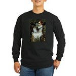 Ophelia / Pomeranian (p) Long Sleeve Dark T-Shirt