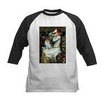 Ophelia / Pomeranian (p) Kids Baseball Jersey