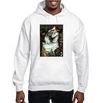 Ophelia / Pomeranian (p) Hooded Sweatshirt