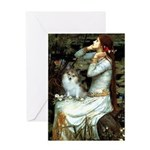 Ophelia / Pomeranian (p) Greeting Card