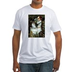 Ophelia / Pomeranian (p) Fitted T-Shirt