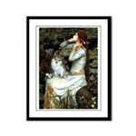 Ophelia / Pomeranian (p) Framed Panel Print