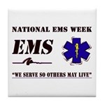 National EMS Week Gifts Tile Coaster