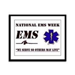 National EMS Week Gifts Framed Panel Print