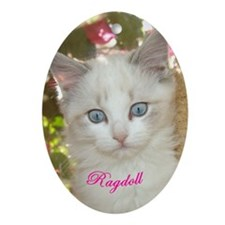 Ragdoll Oval Ornament