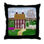 Cherry Tree Farm Cottage Throw Pillow