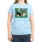 Bridge / 2 Pomeranians Women's Light T-Shirt