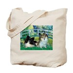 Bridge / 2 Pomeranians Tote Bag