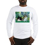 Bridge / 2 Pomeranians Long Sleeve T-Shirt