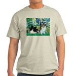 Bridge / 2 Pomeranians Light T-Shirt