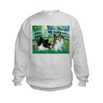 Bridge / 2 Pomeranians Kids Sweatshirt