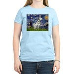 Starry Night / Dalmation Women's Light T-Shirt