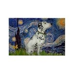 Starry Night / Dalmation Rectangle Magnet