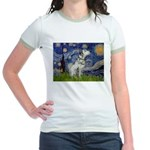 Starry Night / Dalmation Jr. Ringer T-Shirt