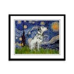 Starry Night / Dalmation Framed Panel Print