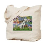 Lilies / Dalmation Tote Bag