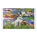 Lilies / Dalmation Sticker (Rectangle)