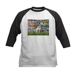 Lilies / Dalmation Kids Baseball Jersey