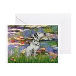 Lilies / Dalmation Greeting Card