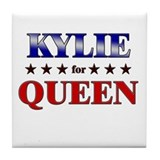 KYLIE for queen Tile Coaster