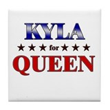 KYLA for queen Tile Coaster