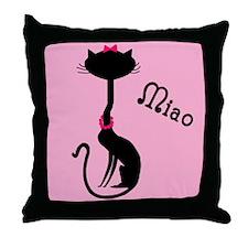 Ooh La La French Kitty Throw Pillow