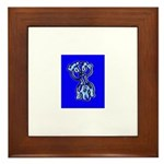 Funny Man Framed Tile (blue)