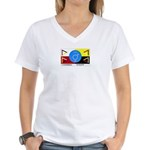 Humanbeingflag Women's V-Neck T-Shirt