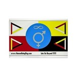 Humanbeingflag Rectangle Magnet (100 pack)