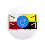 "Humanbeingflag 3.5"" Button (100 pack)"